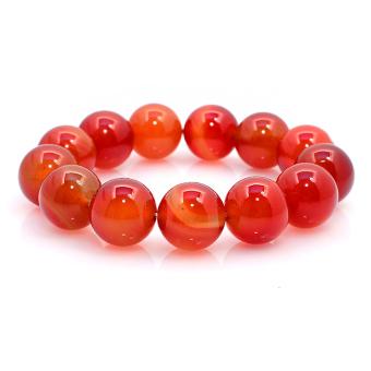 Vòng tay Nam đá mã não đỏ THE OXFORD 6793 (Đỏ)