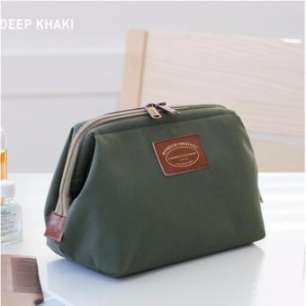 Túi đựng đồ mỹ phẩm không thấm nước kiểu Hàn Quốc (xanh deep khaki)