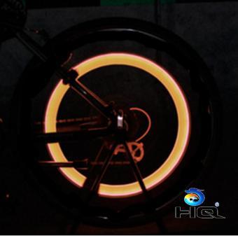 Đèn LED Gắn Van Đổi Màu Cho Bánh Xe Máy Ôtô HQ STORE 1TI31-1A (vàng)