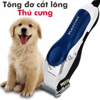 Tông đơ cắt lông cho chó mèo thú cưng chuyên nghiệp KEMEI RFJZ-805 (màu xanh)