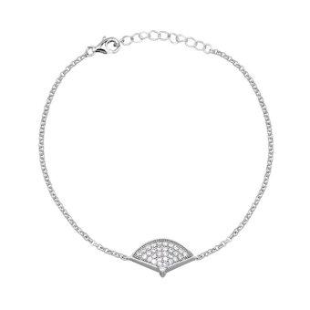 Lắc tay bạc nữ mềm Bạc Ngọc Tuấn E02LAU000003