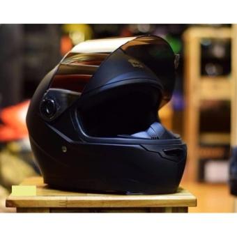 Mũ bảo hiểm Royal M136 đen nhám kính gương