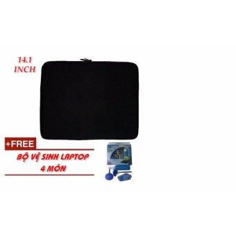 Túi chống sốc Laptop 14.1 Inch + bộ vệ sinh Laptop 4 món