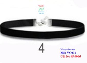 Vòng cổ tattoo dây trơn VC031 (Đen)