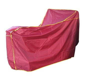 Áo trùm bảo vệ xe máy (Đỏ đậm viền vàng)