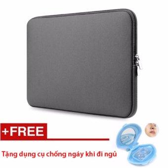 Túi chống sốc Macbook 13 inch (Xám) - Tặng dụng cụ chống ngáy ngủ