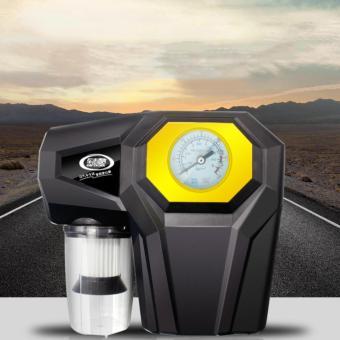 Máy bơm lốp xe ô tô kèm đồng hồ kiểm tra áp suất kiêm máy hút bụi