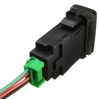 Replacement 12V LED Light Bar Push Switch For Toyota Landcruiser Prado FJ Green (Intl)