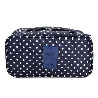 Túi đựng đồ lót travel chống thấm (bi xanh Đen)