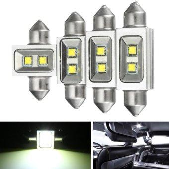1/2/4x 31mm 36mm 39mm 41mm 2 LED Festoon Reading Light Bulb White 31MM - intl