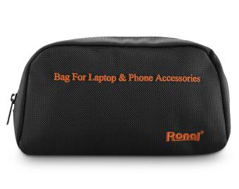Túi phụ kiện Laptop và Phone Ronal (Đen cam)