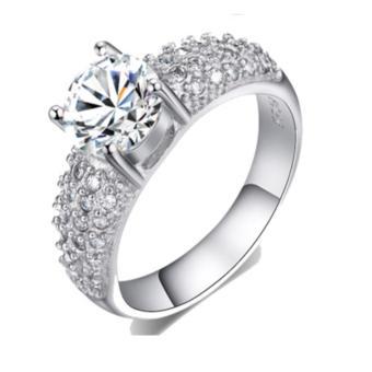 Nhẫn nữ bạc đính đá thời trang MTR01