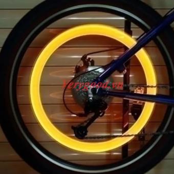 Bộ 4 đèn LED gắn van bánh xe máy ô tô