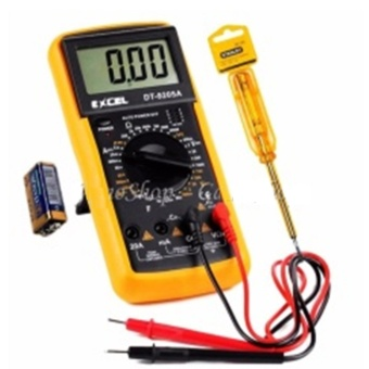 Bộ 1 Đồng hồ đo vạn năng Excel DT9205A Kèm Pin và 1 bút thử điện Gamo Sho