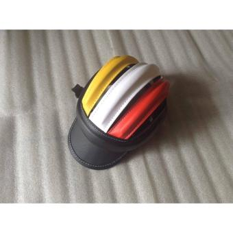 Mũ bảo hiểm 3 sọc (đen+vàng trắng đỏ)