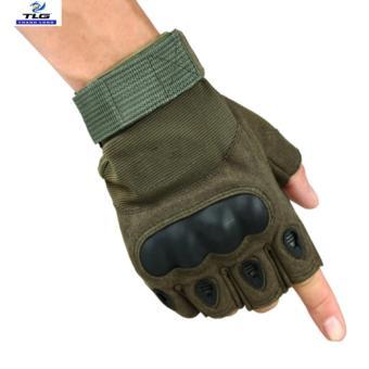 Găng tay hở ngón chiến thuật quân sự thể dục TLG 205215-3 size L (Xanh lính)