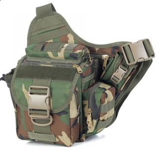 Túi đeo hông máy ảnh Du lịch Bụi phong cách QĐ Mỹ (Xanh lá rừng)