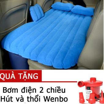Đệm hơi ô tô vải nhung + Tặng kèm bơm chuyên dụng