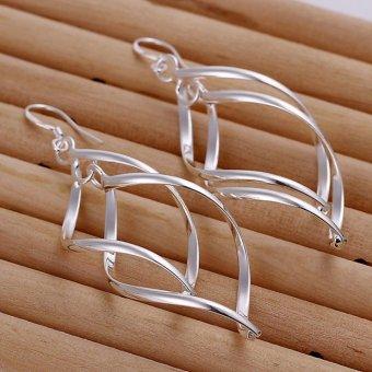 Sunwonder Leaf Shape Drop Dangle Earrings - intl