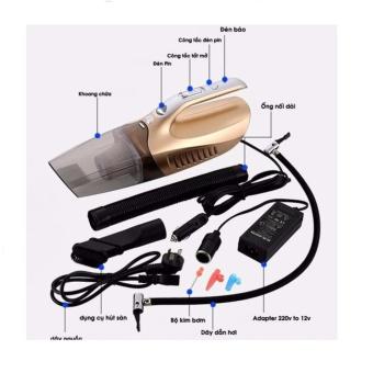 Máy Hút Bụi Xe Ô Tô 4 in 1 +Tặng Bộ Adapter 200V To 12V Có Thể Sử Dụng Trong Nhà