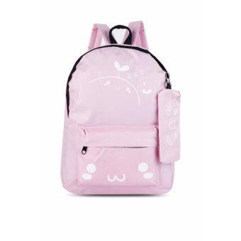 Balo thời trang tặng kèm ví đựng bút Mua Mua (hồng) Gg54
