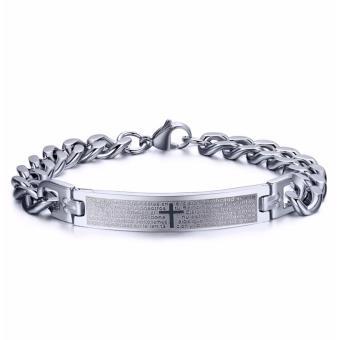Lắc tay thánh giá LT131 (Màu bạc)