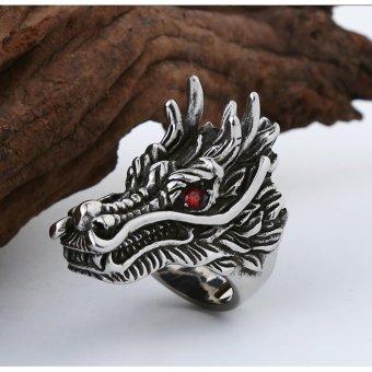 Nhẫn nam thép Titan Sparta trang sức hình đầu Rồng / Sparta Dragon Ring S19