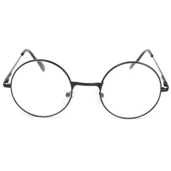 Lesebrille Lesehilfe Rund Unisex Nerd-Kult Hornbrille Metall +1.5 - intl