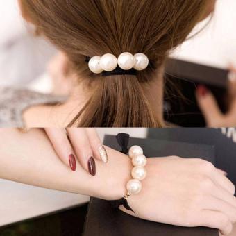 Vòng tay nữ ngọc trai 2in1 - có thể dùng làm dây cột tóc