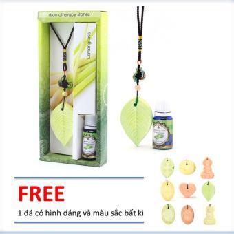 Đá thơm khuếch tán tinh dầu sả chanh Ecolife hình lá thay thế đèn xông tinh dầu, an toàn cho trẻ nhỏ, dễ sử dụng, dễ di chuyển. tặng 1 đá khuếch tán bất kì