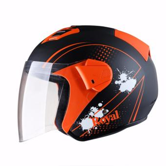 Mũ bảo hiểm Royal M06 đen cam