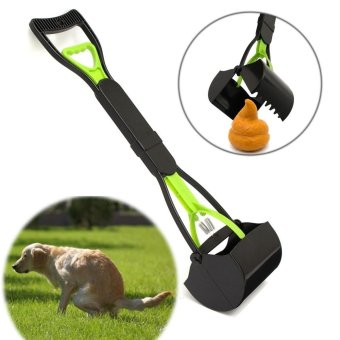 Dog Cat Pet Pooper Scooper Jaw Poop Scoop Clean Pick Up Waste 24