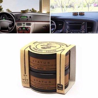 Bộ 2 gel thơm khử mùi Status korea trên xe hơi hương café GK90