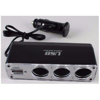 Bộ Sạc Nguồn Tẩu Chia 3+ USB