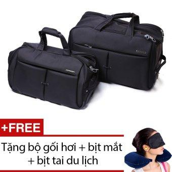 Bộ 2 túi chống 20 inch và 16 inch Leavesking LV 8405 (Đen) + Tặng bộ 1 gối hơi + 1 bịt mắt + 1 cặp bịt tai du lịch