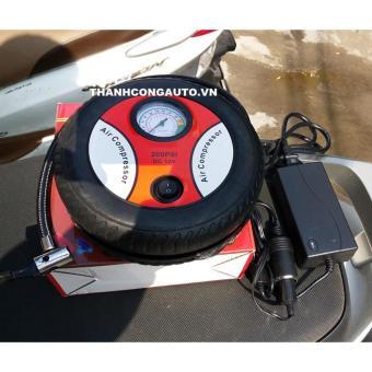 Máy bơm lốp xe máy ô tô Air Compressor 260PSI + Nguồn 220V - 12v 60w