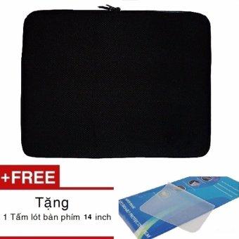 Túi chống sốc laptop 14 inch + Tặng kèm miếng lót bàn phím 14 inch