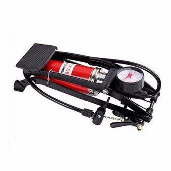 Bơm đạp chân 1 Piston dùng cho ô tô - xe máy JC 702A + Tặng kèm que lấy ráy tai
