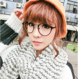 Gọng kính cận nữ siêu cute, duyên dáng +Tặng bao da BT99.168(đen)