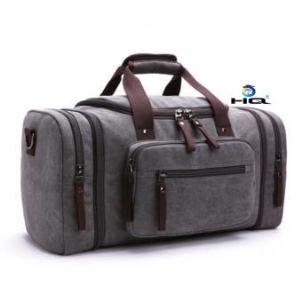 Túi du lịch cỡ đại vải canvas cao cấp HQ 81TU46 2(xám)