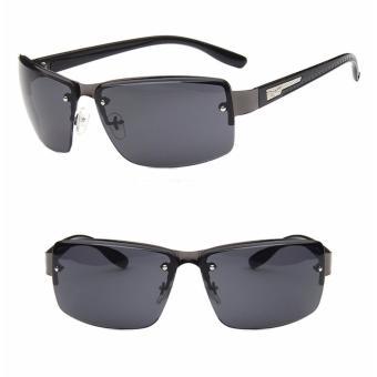 Mắt kính thời trang Nam A - M08 (Gọng đen tròng đen) + tặng kèm bao da cao cấp