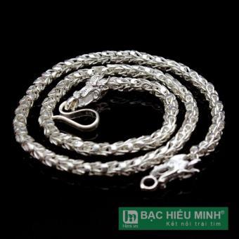 dây chuyền bạc nam dbn024s BẠC HIỂU MINH đầu rồng 1 cây 3