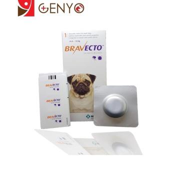 Genyo Điều Trị Rận Tai Ve Ghẻ Bọ Chét Chấy Chó 4-10kg Bravecto + KM 1 Cục Xà Bông Tắm Chó