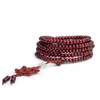 Vòng chuỗi hạt đeo tay 216 hạt gỗ nâu 6mm thời trang