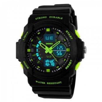 Đồng hồ thể thao chống nước SKMEI 1061 cho bé trai (Đen viền xanh lá)