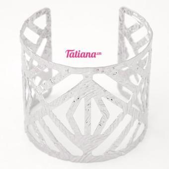 Vòng Tay Cutout Cuff - Tatiana - V2179(Bạc Gân)