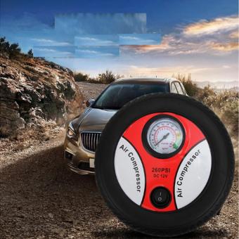 Mua Máy bơm lốp ô tô 12v Air Compressor 260PSI HQ Store 0TI87 (Đen phối đỏ) giá tốt nhất