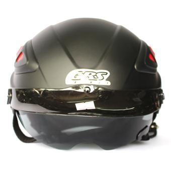Mũ bảo hiểm 1 kính GRS 966 (Đen bóng)