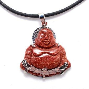 Dây chuyền Nam mặt ngọc hình Phật Di Lặc CRYSTAL MP01 (Nâu)