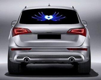Đèn Led gắn kính hậu ô tô nháy theo nhạc ( hình trái tim ) TH265